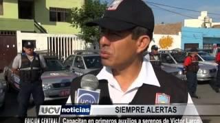 Capacitan en primeros auxilios a serenos de Víctor Larco
