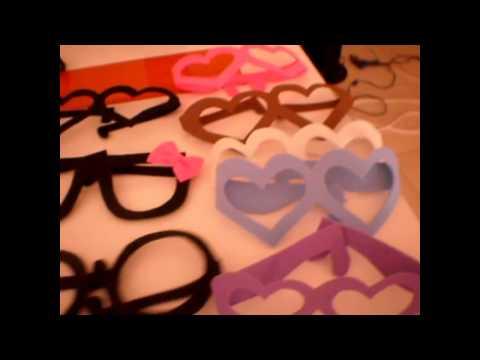 fc66d532f3 Tutorial de gafas de goma eva para fiestas - YouTube