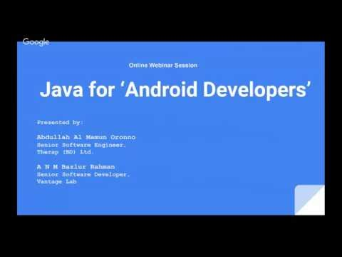 JUGBD Session - Java for Android Developers