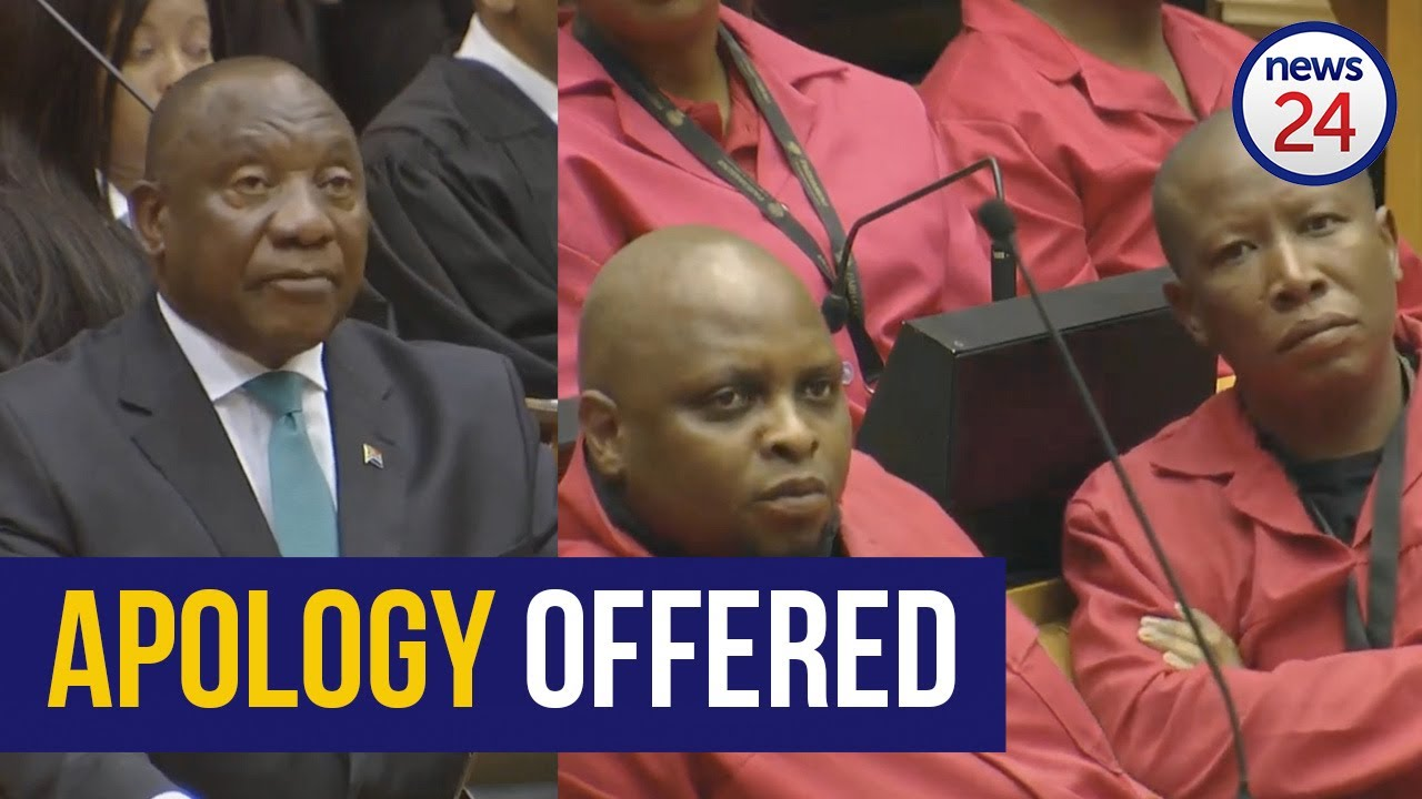 WATCH | Ramaphosa apologises to Malema after ANC MP claims he abused his wife - News24