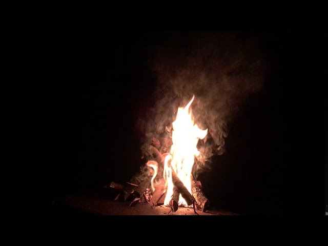 Bonfire From The Moment It Was Ignited With One Match Youtube