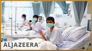 🇹🇭 First video showing rescued Thai boys recovering in hospital | Al Jazeera English