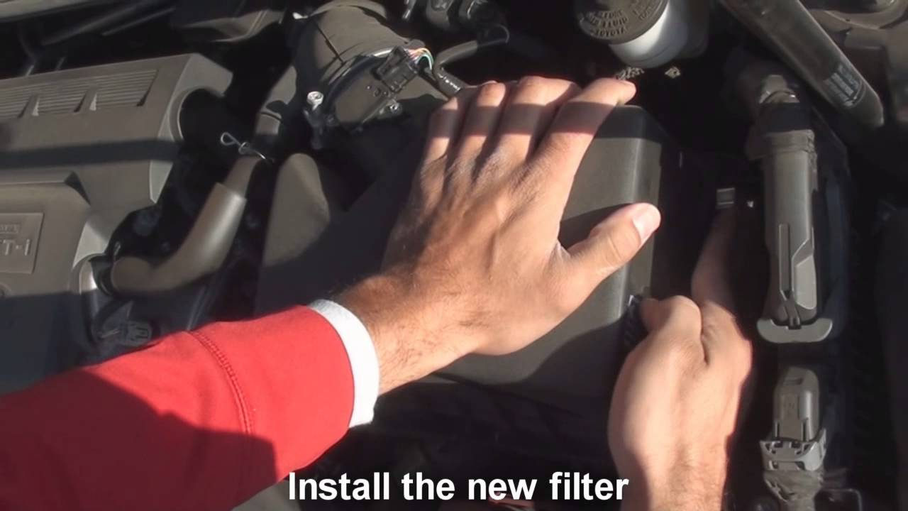 how to change air filter in toyota camry 2014