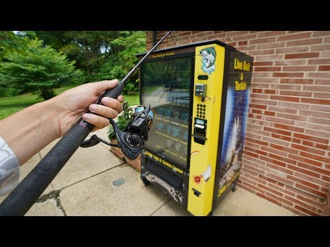 Live Bait VENDING MACHINE Fishing Challenge!! (EPIC!)