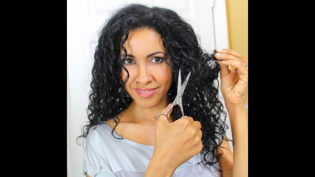cutting curly hair / how to cut long layers - birmabb - youtube