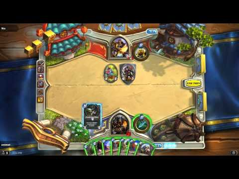 Hearthstone - Turn 5 Win With Hunter Unleash The Hounds Deck!