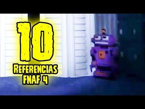 TOP 10: 10 Referencias De Five Nights At Freddy's 4 Que Tu No Sabias | FNAF 4