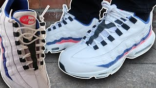 How To Lace Air Max 95s (w/ ON FEET) | 3 Different Styles! (THE BEST WAYS!)