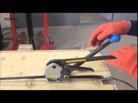 Ручной стреппинг инструмент для стальных упаковочных лент M4K 10