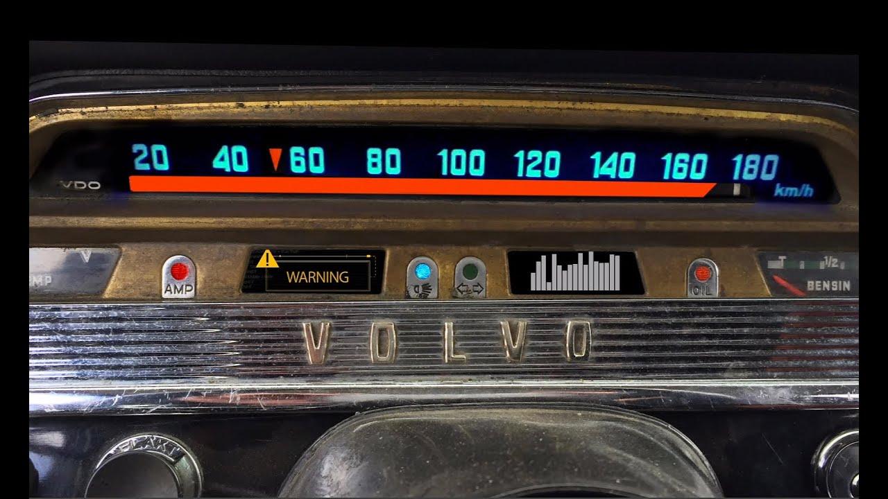 Volvo Amazon speedometer action - YouTube