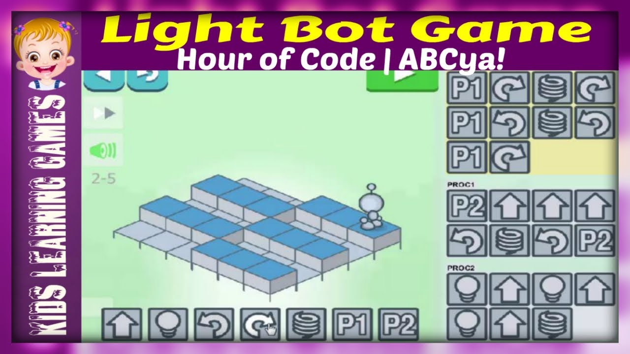 Download Light Bot Game - Hour of Code Lightbot -  ABCya! Level 1 & 2