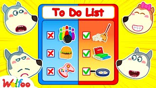 Wolfoo Learns to Be a Good Kid of Mom - Wolfoo Made a to-Do List for the Day #2   Wolfoo Channel