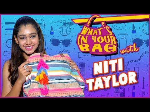 Niti Taylor Handbag SECRET REVEALED  | What's In Your Bag | TellyMasala