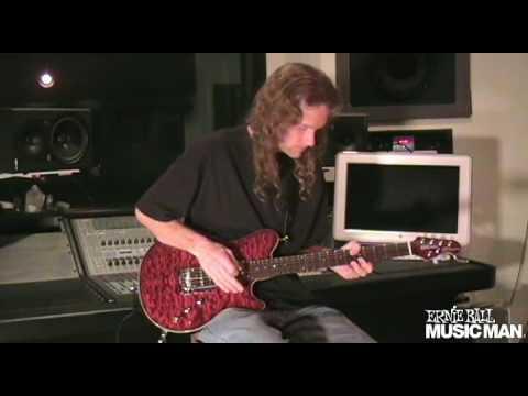 Ernie Ball Music Man Artist Travis Larson demonstrates the Music Man 25th Anniversary Guitar