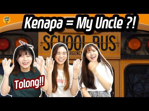 Korean Girls learns Malay Language for the first time!