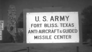 Nike Missile Launch; Sec. Of Army; Ft. Bliss; White Sands; Holloman AFB, 1955 (full)