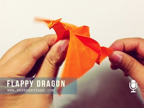 Origami for Kids: How to make a paper dragon that can FLAP WINGS - | Flappy Dragón