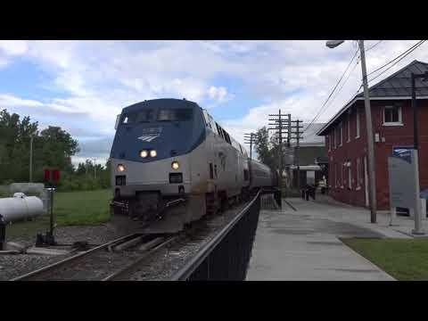 Amtrak #4  prepares to board passengers after overnight stay @ St. Albans, VT 8/22/18