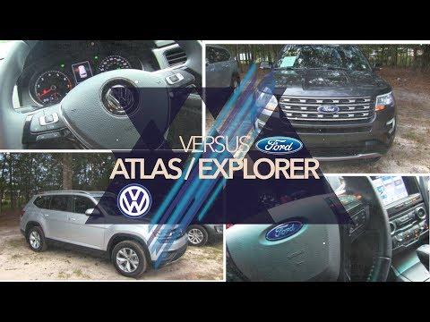 🔵  NEW  VW ATLAS vs  FORD EXPLORER | REVIEW🏁  Exterior, Interior💡 LED Lighting & PRICE💰