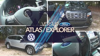 🔵  NEW 2018 VW ATLAS vs 2017 FORD EXPLORER | REVIEW🏁  Exterior, Interior💡 LED Lighting & PRICE💰