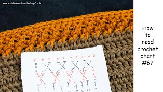 Easy Crochet: How to read crochet chart #67 (crochet edging)