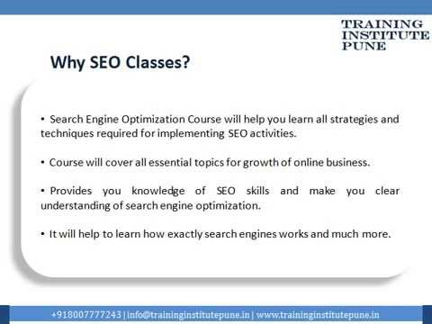 SEO (Search Engine Optimization) Classes Pune   SEO Training Institute Pune