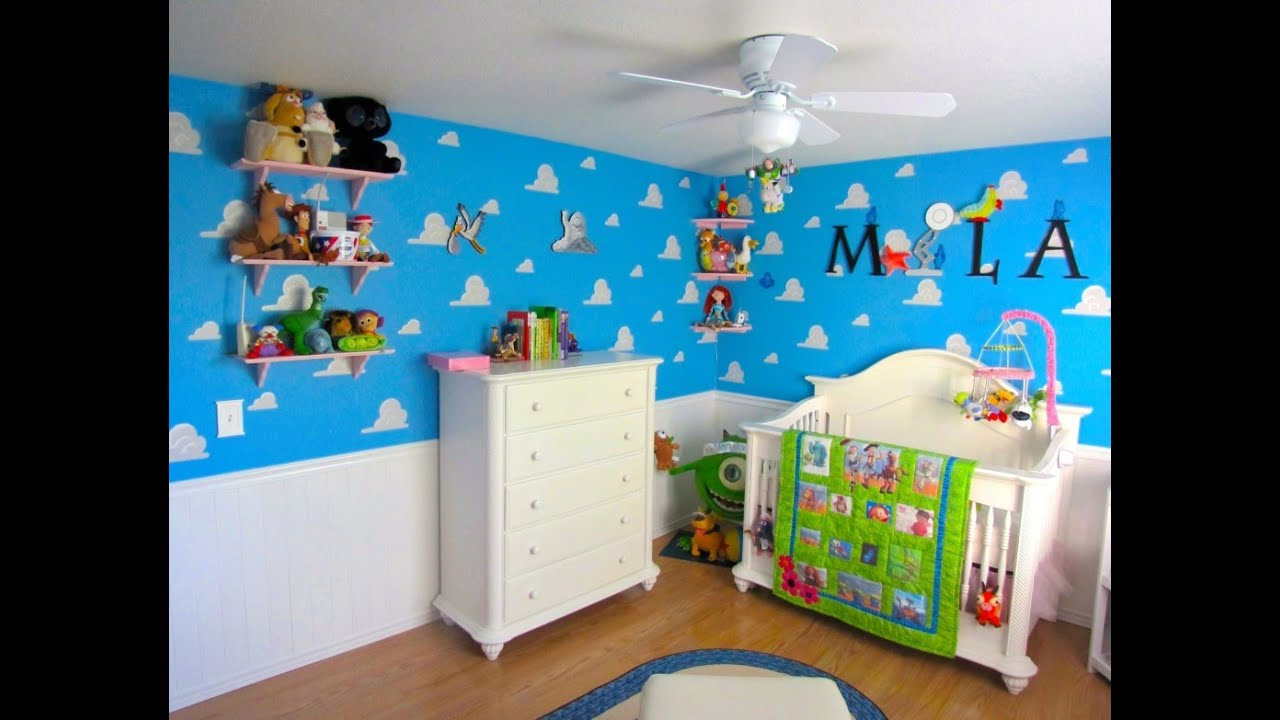 Wallpaper Ideas For Baby Girl Nursery Toy Story Bedroom Toy Story Bedroom Colors Youtube