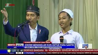 Kunjungan ke Ponpes Langitan, Jokowi Gelar Kuis untuk Santri