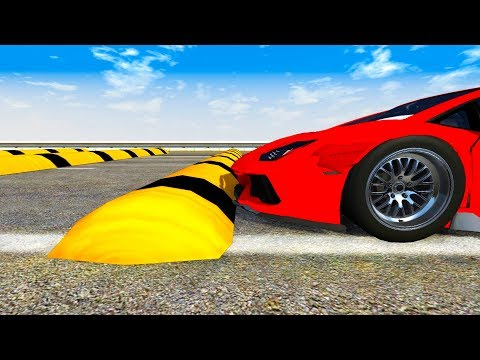 Speed Bumps High Speed Crashes #1 - BeamNG Drive Compilation (BeamNG Drive Crashes)