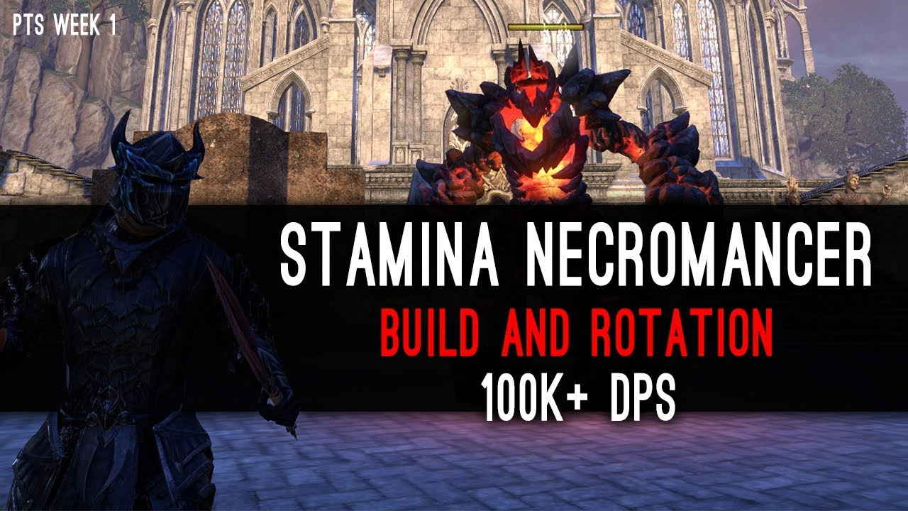 100k DPS - Stamina Necromancer DPS Test PvE - Elsweyr PTS Week 1