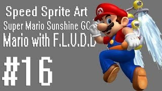 Speed Sprite Art #16 ~ Super Mario Sunshine (GC) [Mario with Fludd]