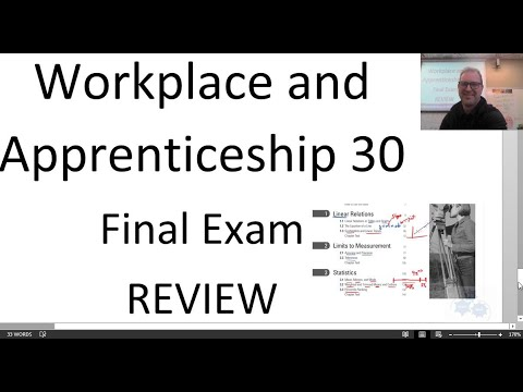 Workplace and Apprenticeship Math 30 Final Review (WA 30