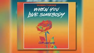 Robin Thicke - When You Love Somebody Lyrics