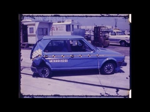Fiat Strada / Fiat Ritmo | 1980 | Rear Crash Test by NHTSA | CrashNet1