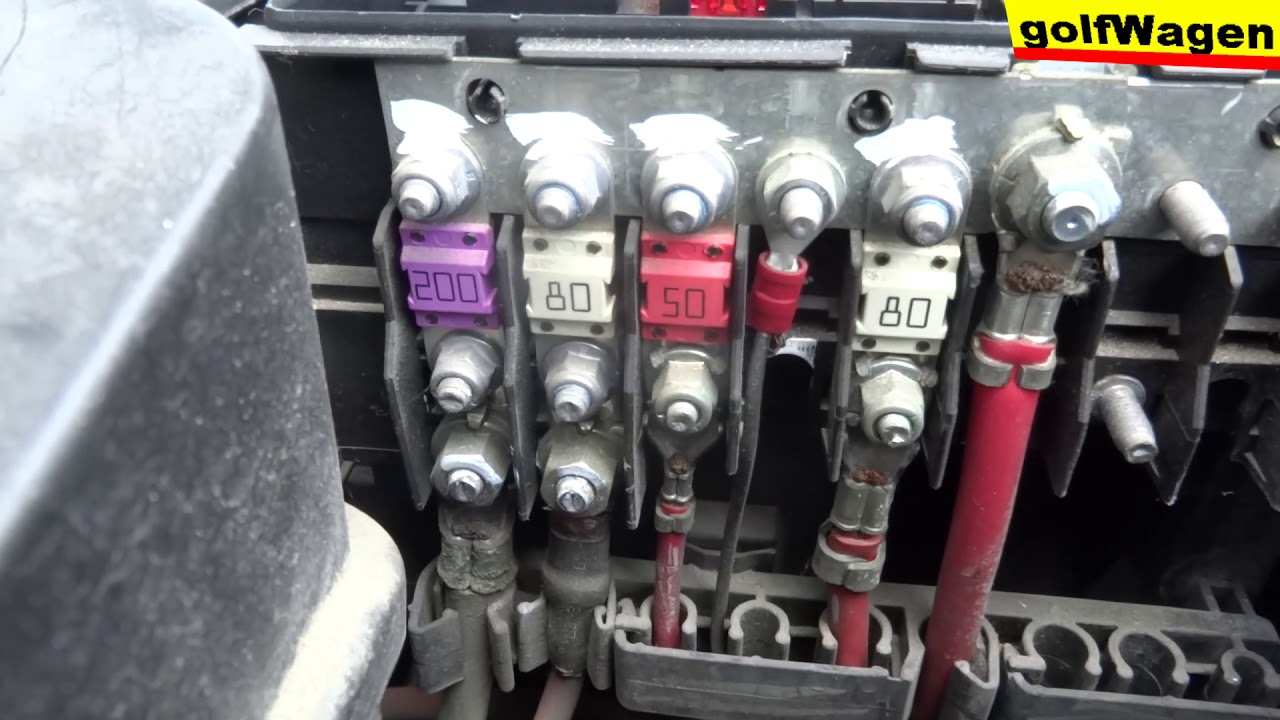 vw golf 5 fuses fuse diagram 1 6 petrol for example youtube mk5 golf engine bay fuse box [ 1280 x 720 Pixel ]