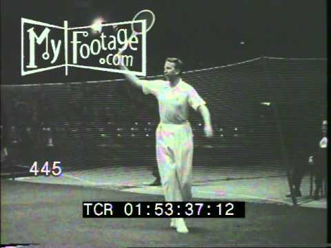 Stock Footage - 1941 TENNIS: FRANK KOVACS VS. DON BUDGE