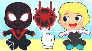 BABY ALEX Dresses up as Miles Morales Spiderman 💥 Cartoons for Kids