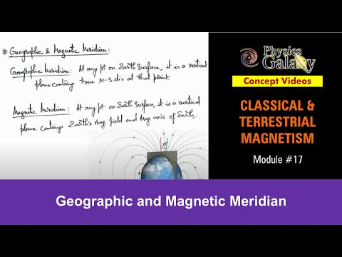 17. Physics | Terrestrial Magnetism | Geographic and Magnetic Meridian | by Ashish Arora