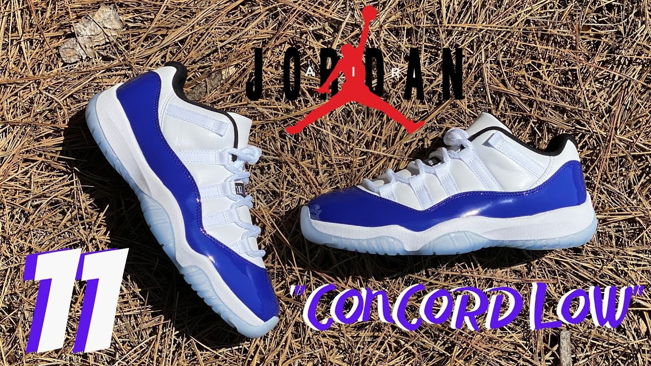 "EARLY LOOK! JORDAN 11 LOW ""CONCORD SKETCH"" 2O2O REVIEW!!"