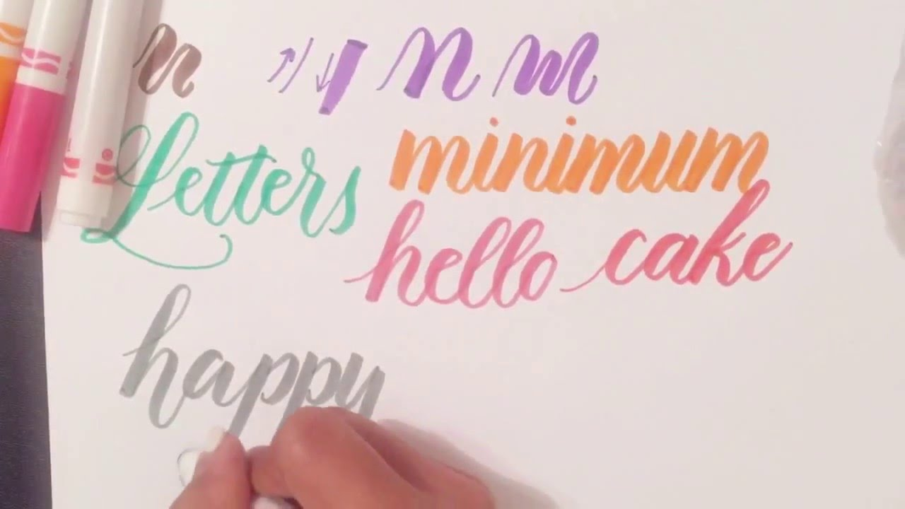 Fake Calligraphy M Tutorial How To Use Regular Crayola Markers To Write Modern Brush Calligraphy