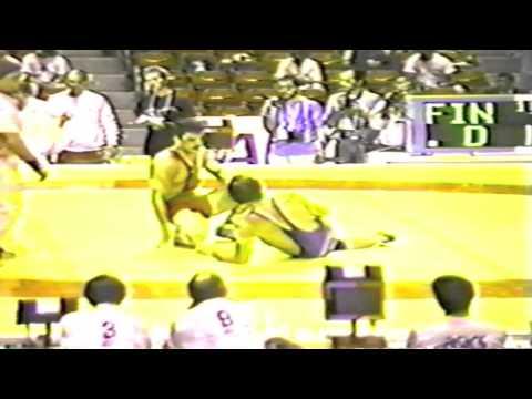 1990 Senior World Championships: 74 kg Amir Reza Khadem Azghadi (IRI) vs. Pekka Rauhala (FIN)