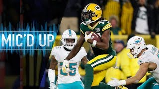"Davante Adams Mic'd Up vs. Dolphins ""My brain is spinning!"" 