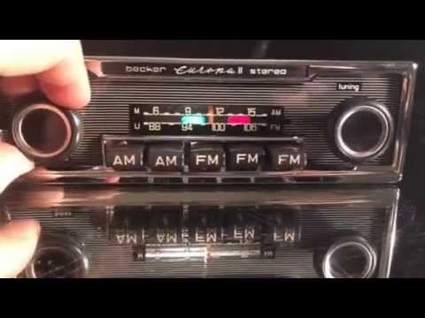 Chromelondon com BECKER EUROPA II STEREO VINTAGE CLASSIC CAR RADIO WITH  FULL STEREO OUTPUT AND MP3