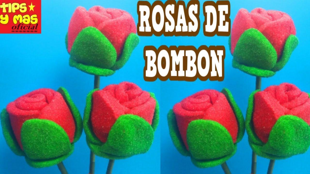 Rosas Rojas De Bombón Para Día De Las Madres O 14 De Febrero