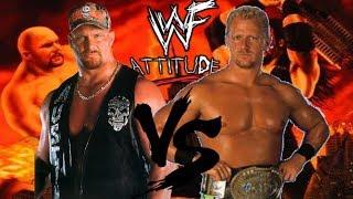 WWF Attitude Dreamcast Matches Stone Cold Steve Austin vs Jeff Jarrett