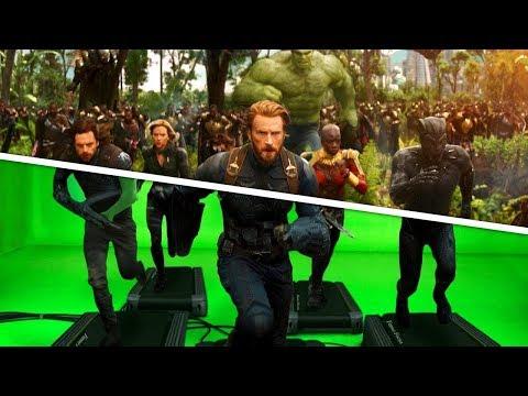 Как выглядят Мстители до и после спецэффектов