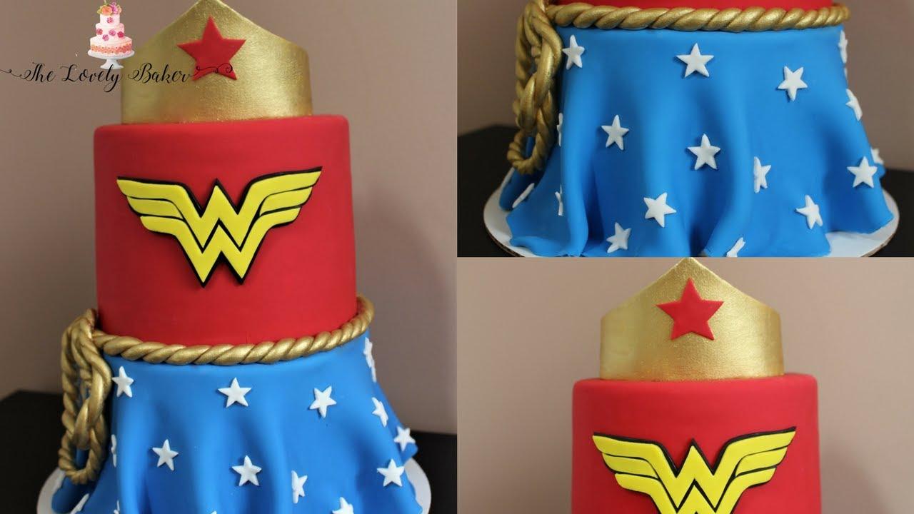 Wonder Woman Comic Book Style Cake Tutorial Youtube