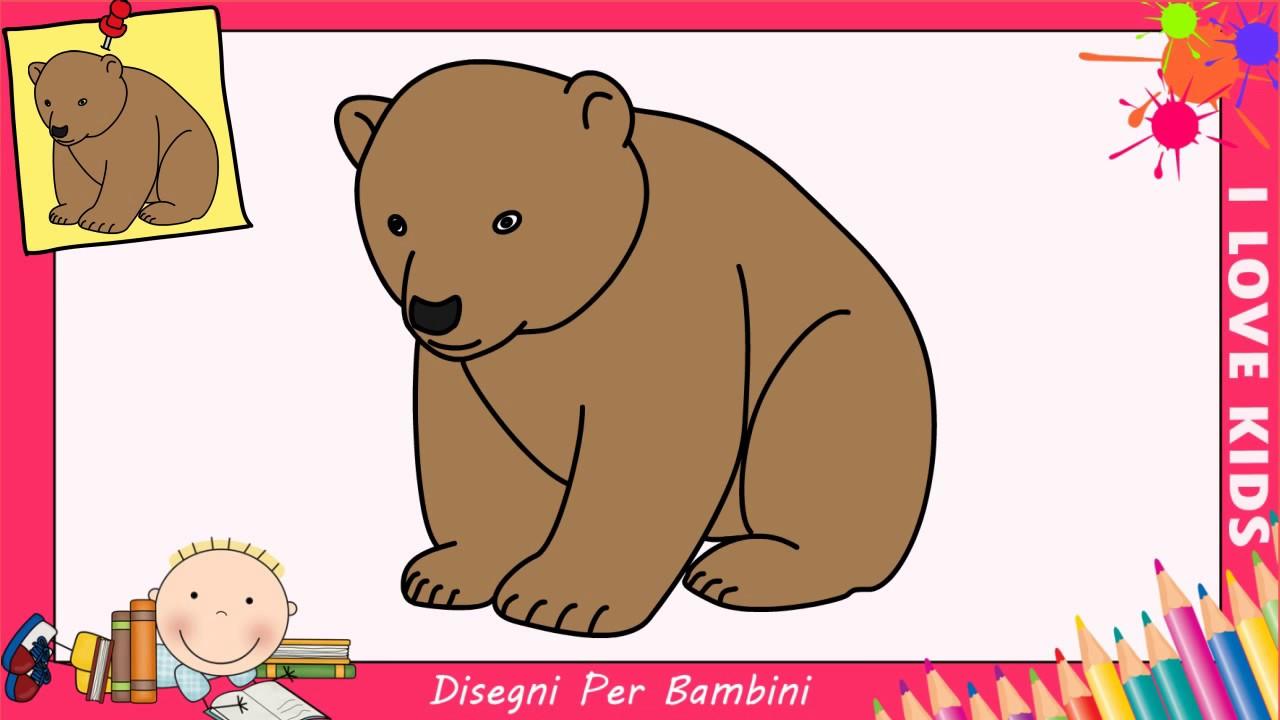 come disegnare un orso facile passo per passo per bambini