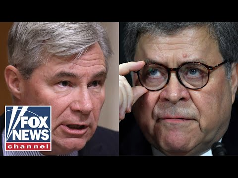 Watch Barr double down on Trump spying claims in heated exchange