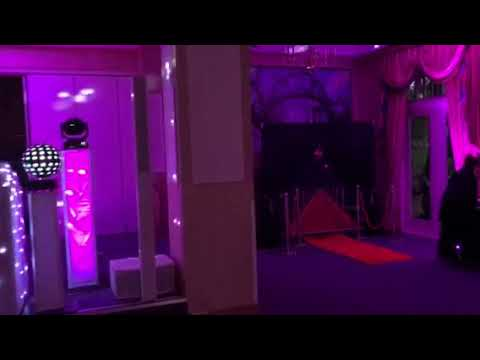 Blue Sapphire Occasions DJ Wedding Set Up 20-10-18